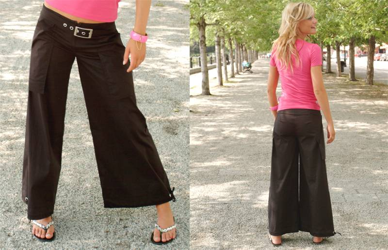 Dollface Clothing Jammy Wide Leg Cropped Pant