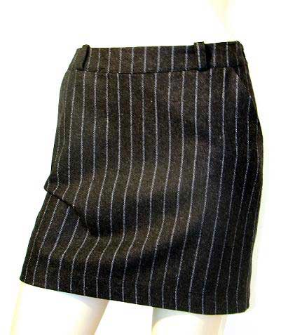 Genux Clothing Onyx Group 03 Pinstripe Wool Skirt